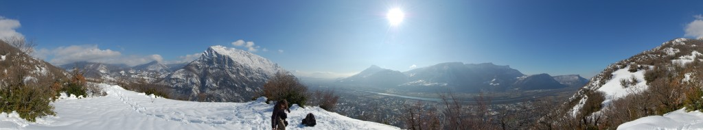 Panoramic view from the Scialet