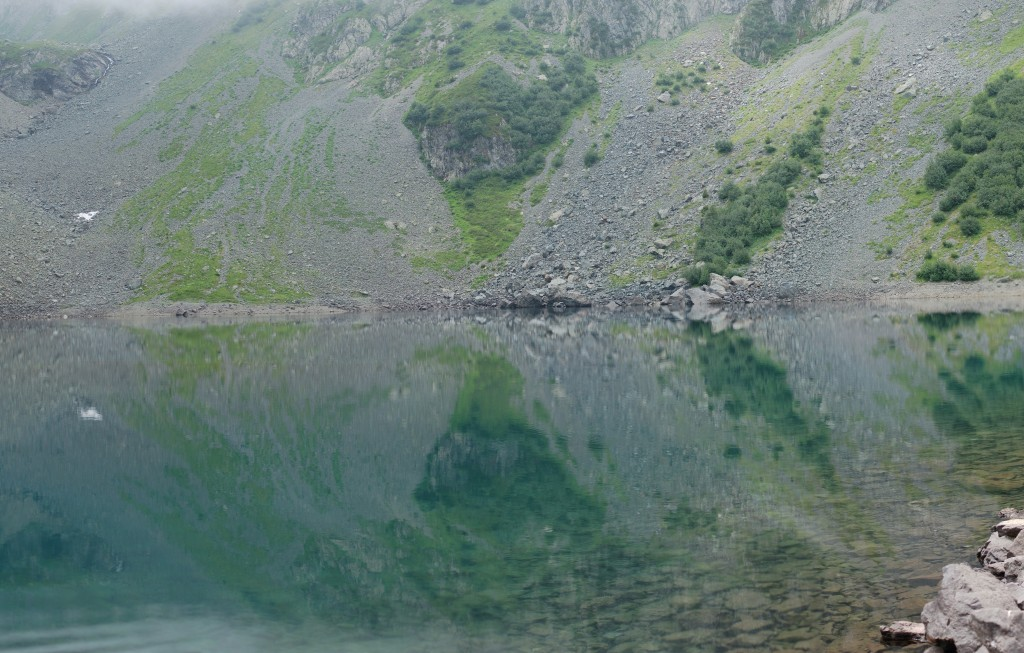 Reflection on the surface of the Lac de Crop.