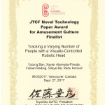 Novel Technology Paper Award Finalist @ IROS 2017