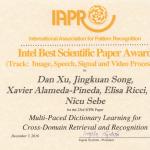 Best Scientific Paper Award at IAPR ICPR'16